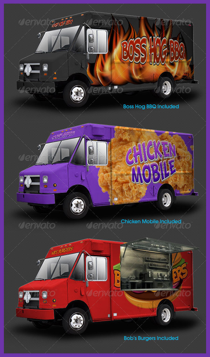 Food Truck Wrap Template