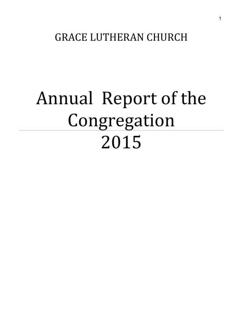 Free Church Programs Template