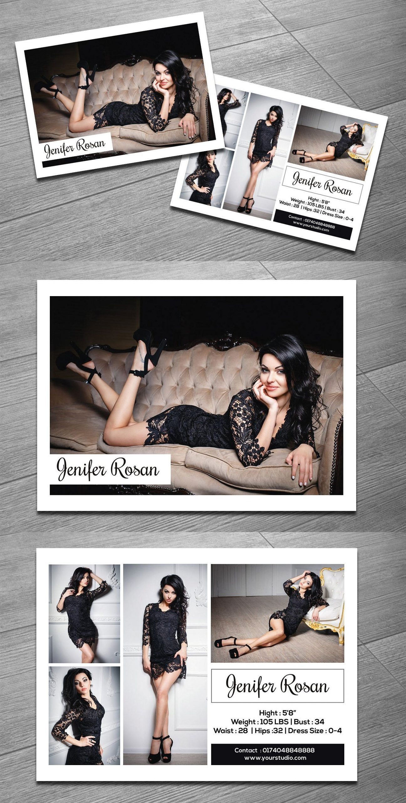 Free Comp Card Template