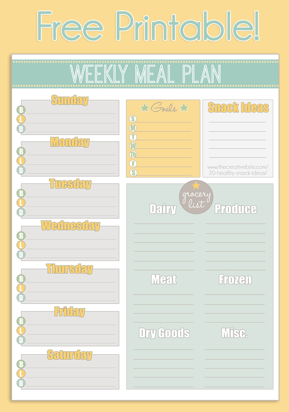 Free Meal Planner Template
