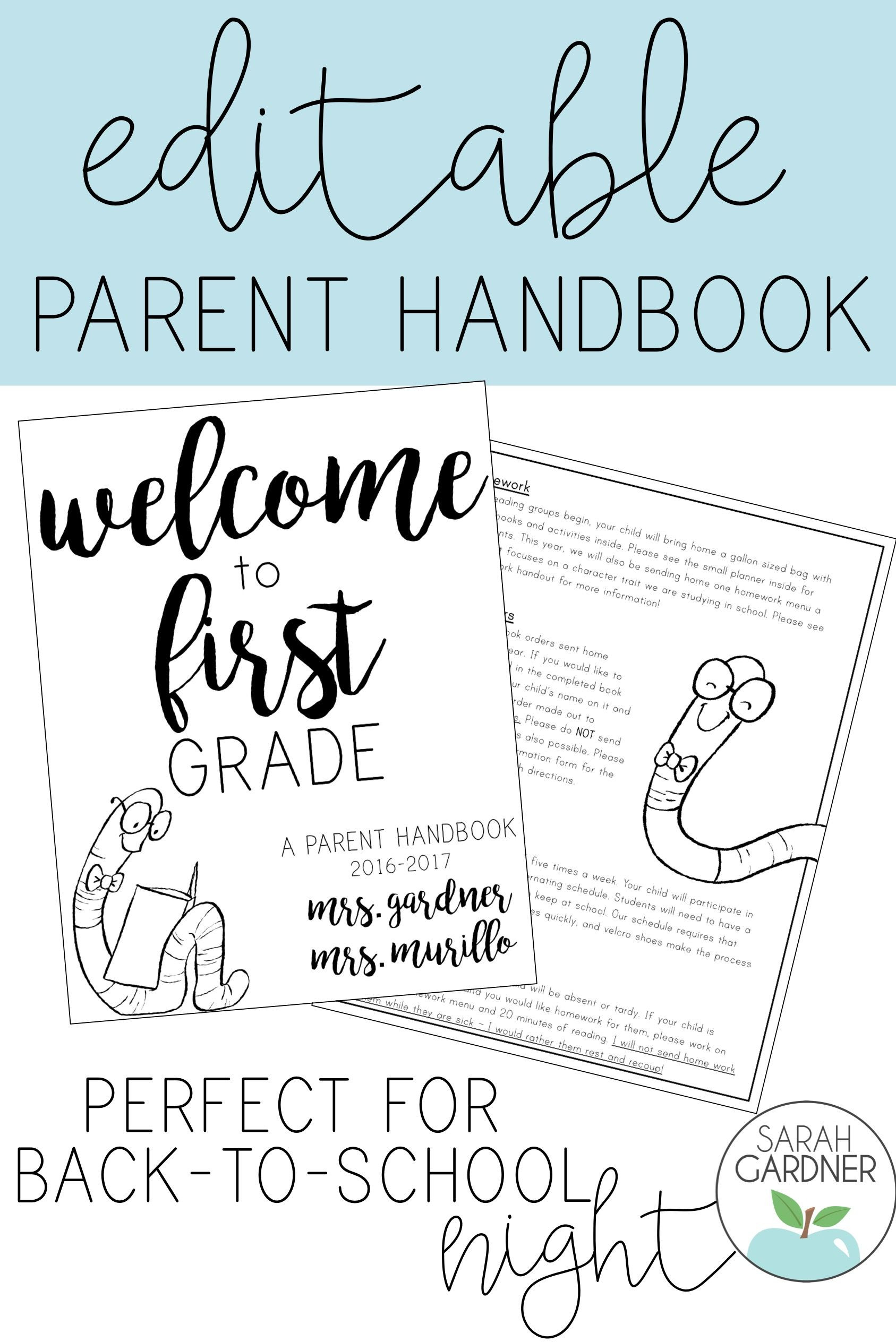 Free Parent Handbook Template