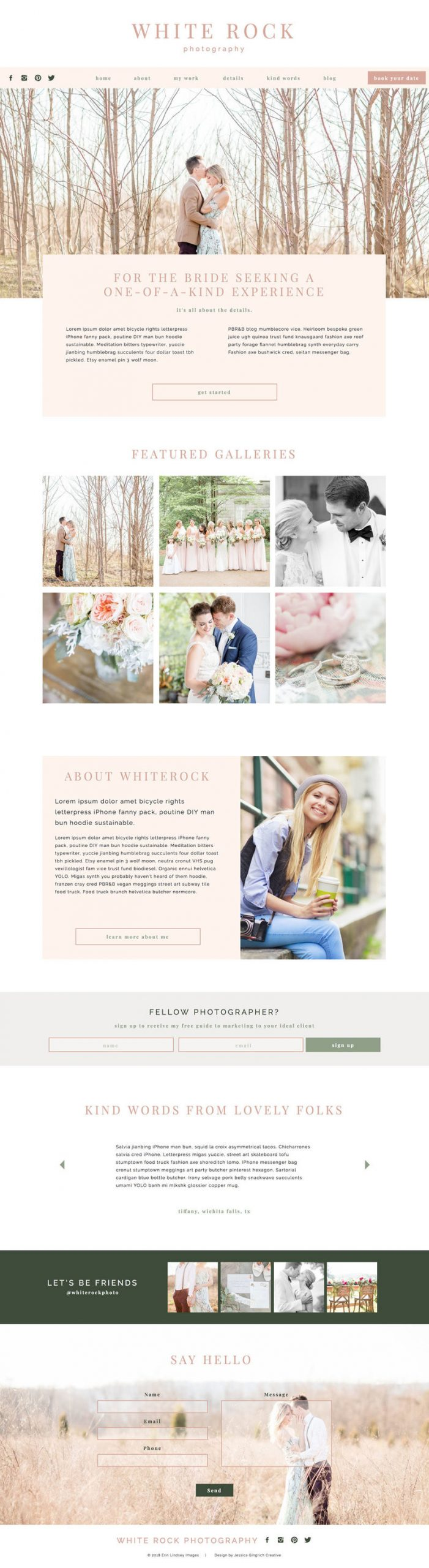 Free Photography Pricing Template