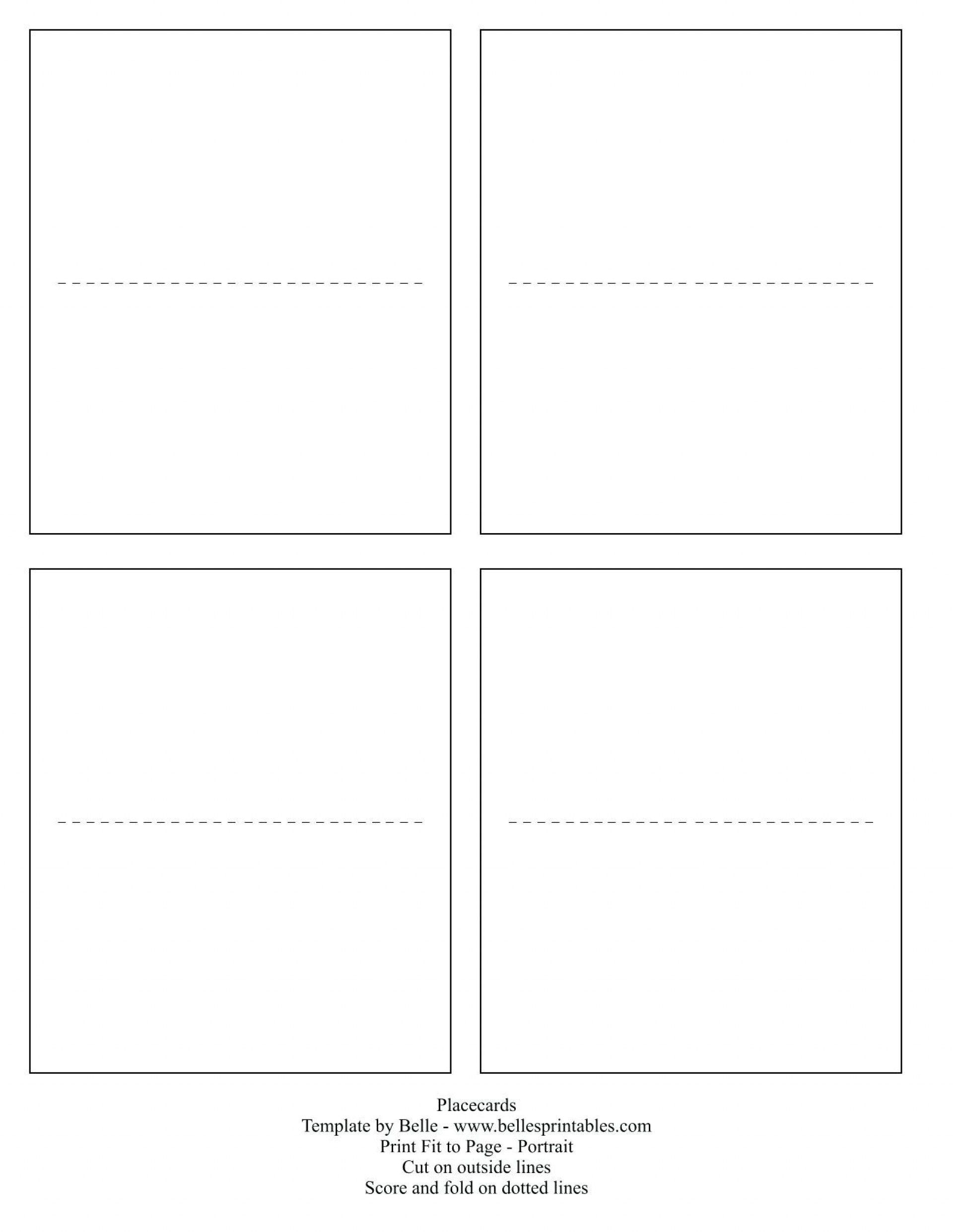 Free Printable Place Card Template Addictionary