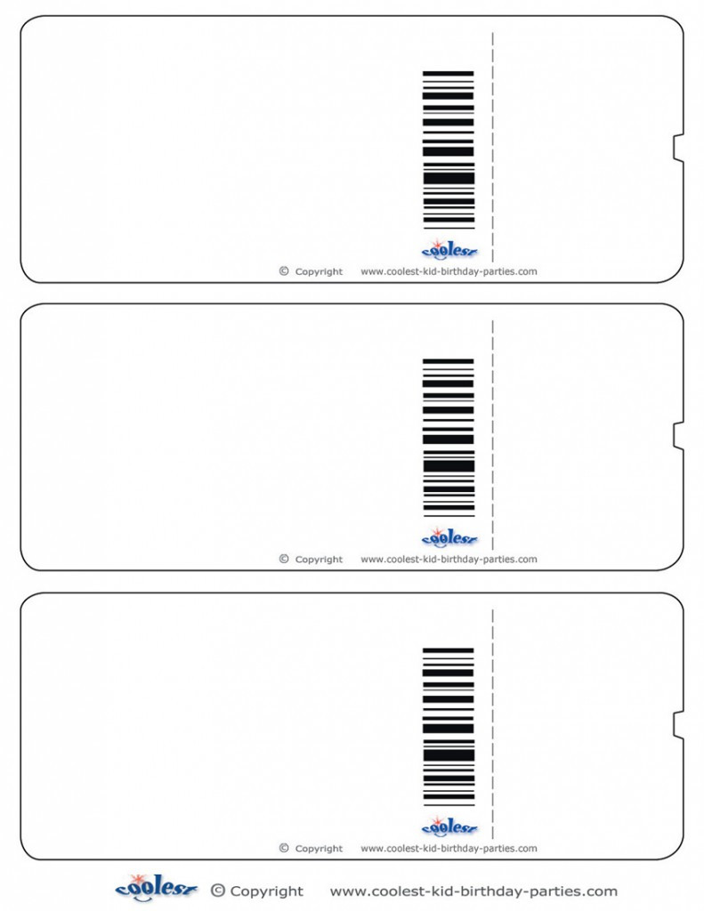 Free Printable Ticket Template