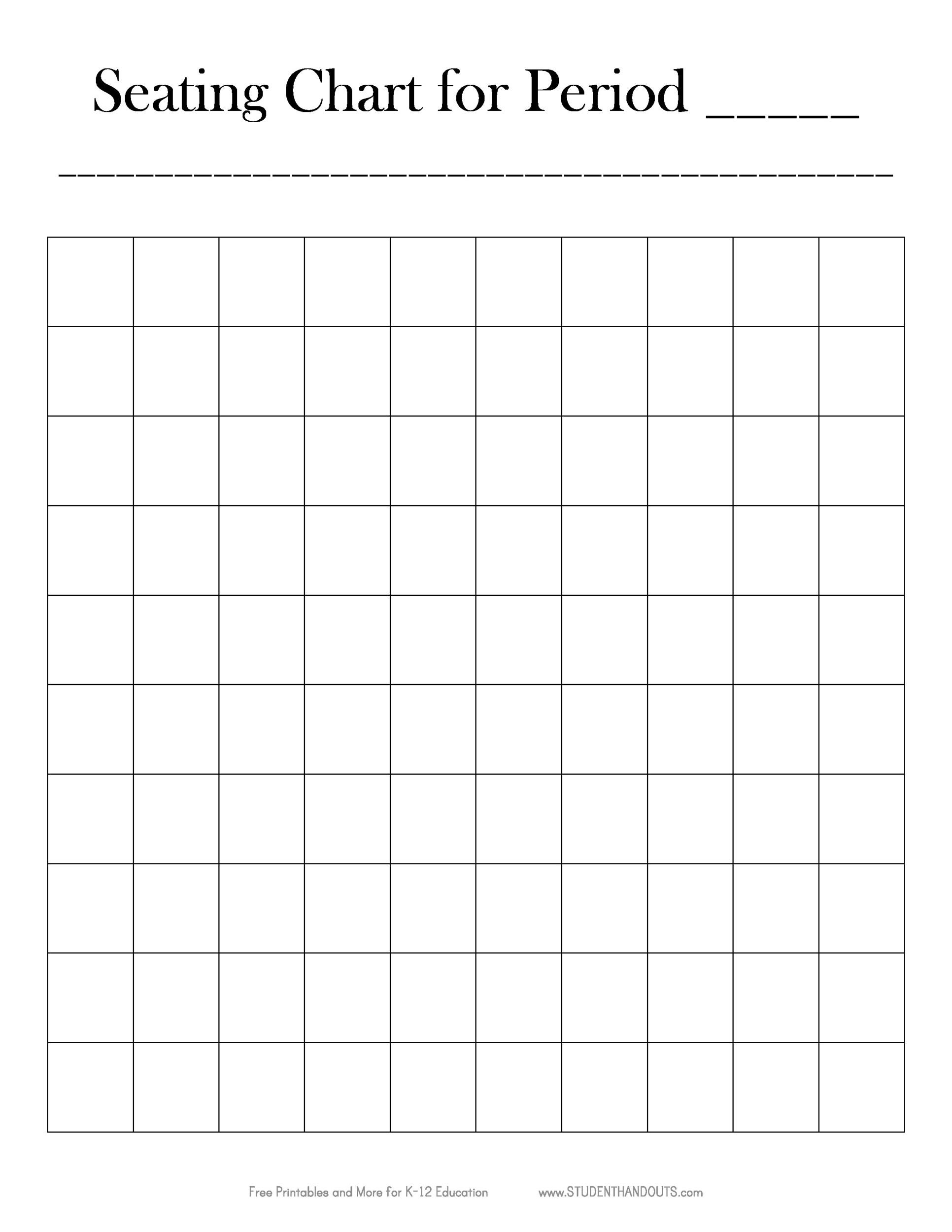 Free Seating Chart Template