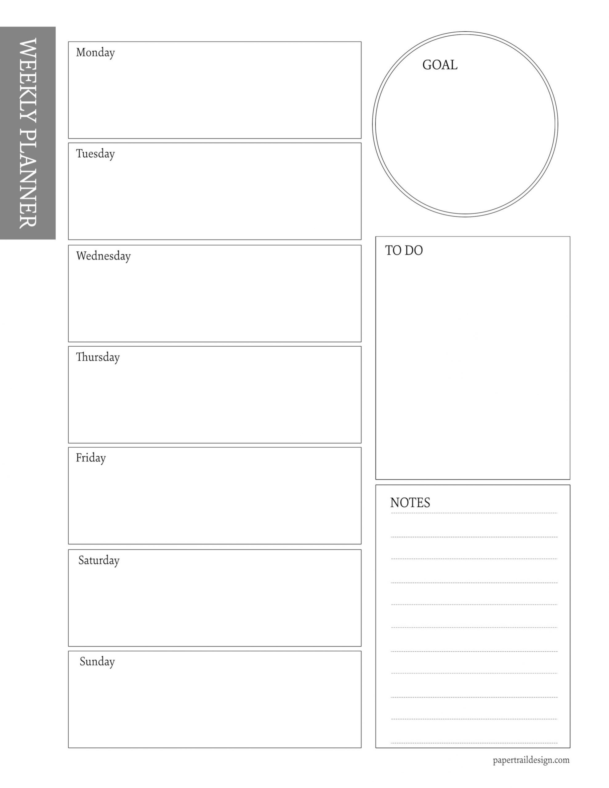 Free Weekly Planner Template
