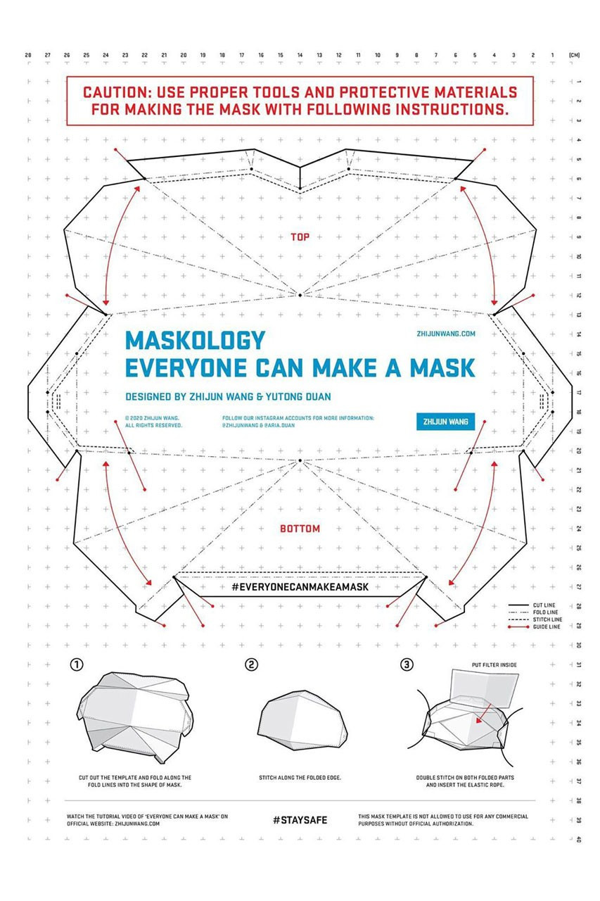 Full Face Mask Template