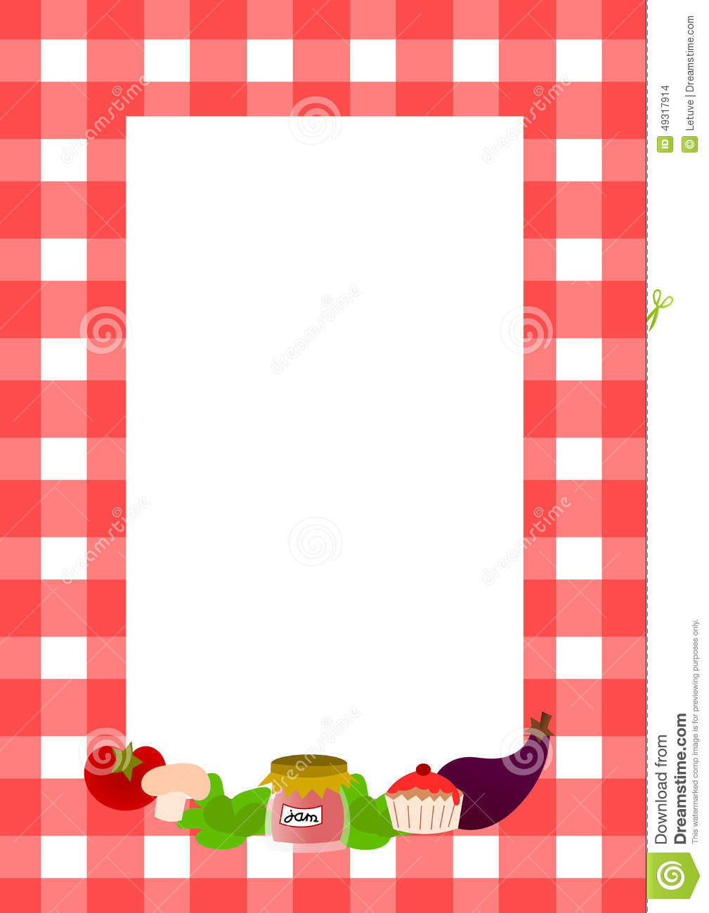 Full Page Recipe Template
