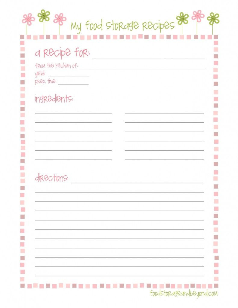 FSB full page recipe card