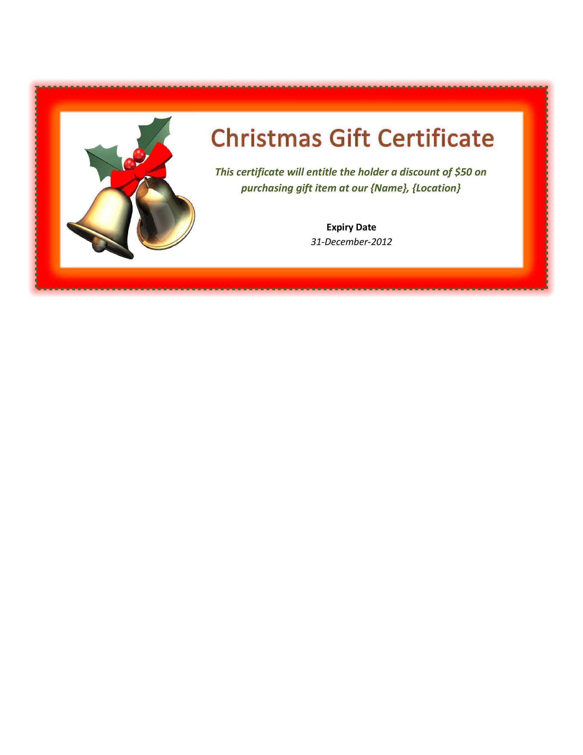 Gift Certificate Template Free