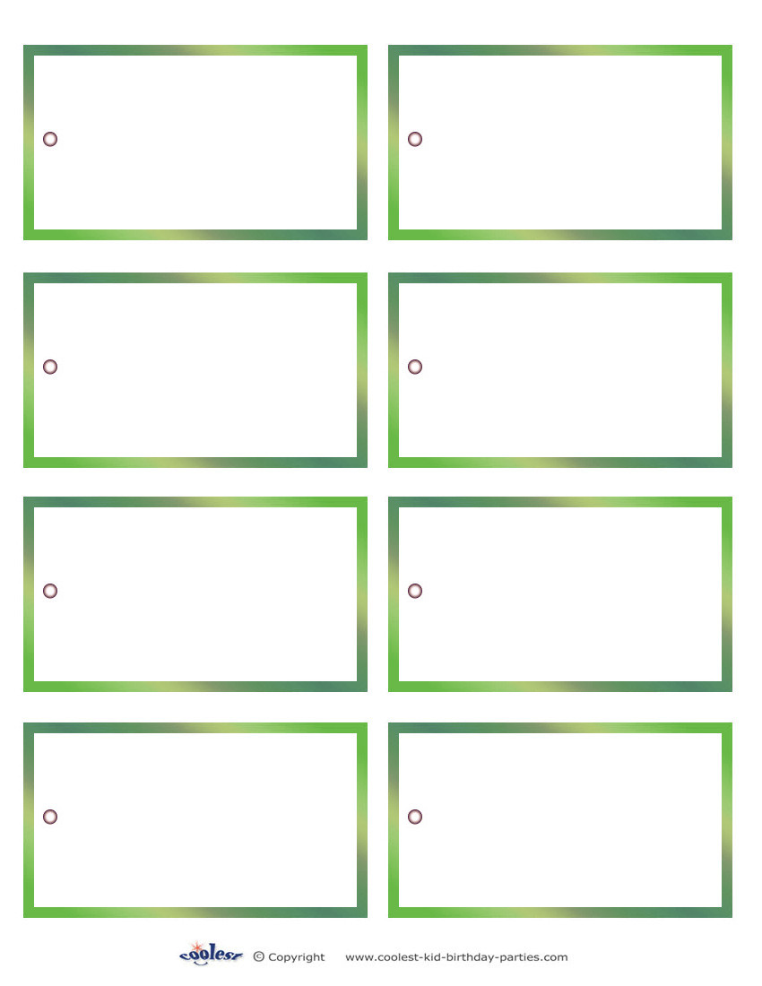 Gift Tag Template Word