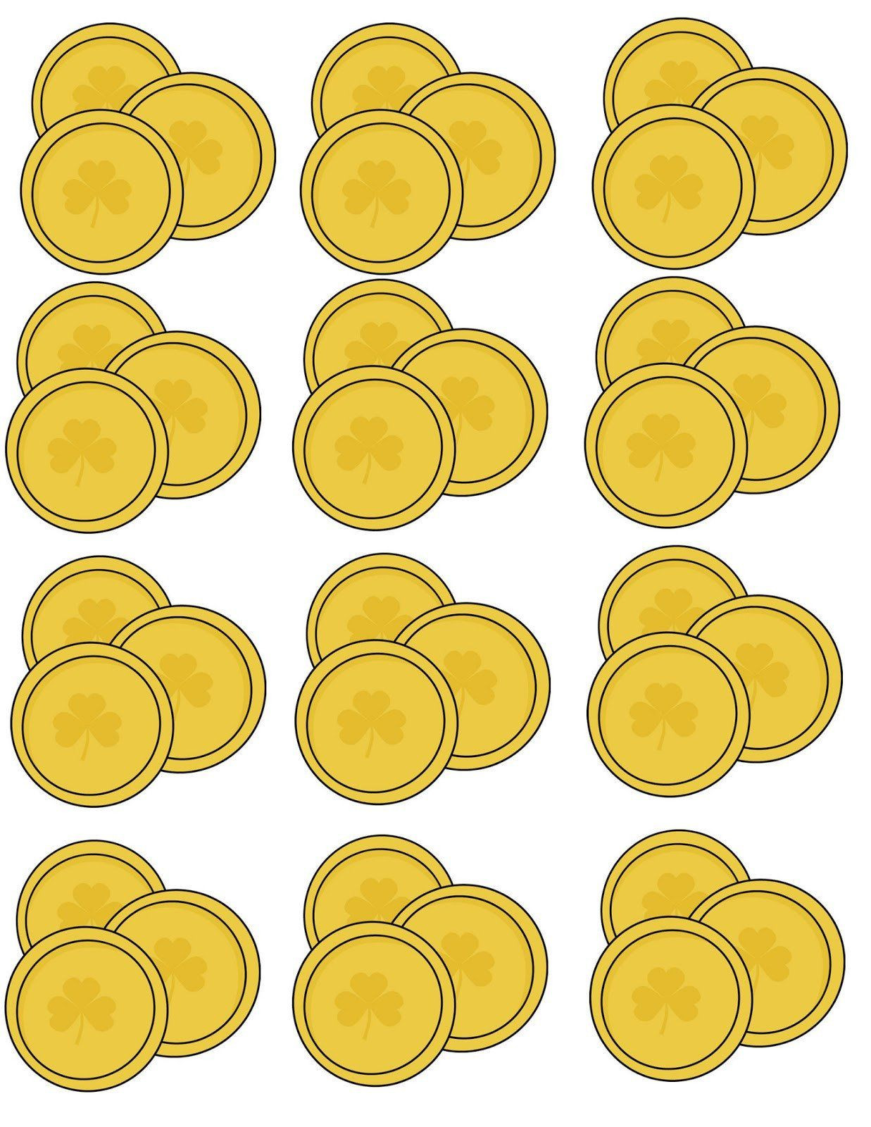 30 Gold Coin Template Printable in 2020