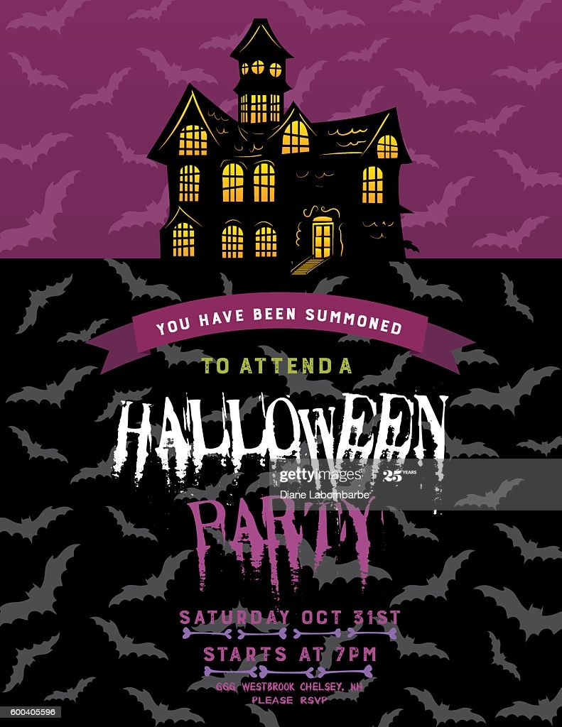 Halloween Party Invitation Template