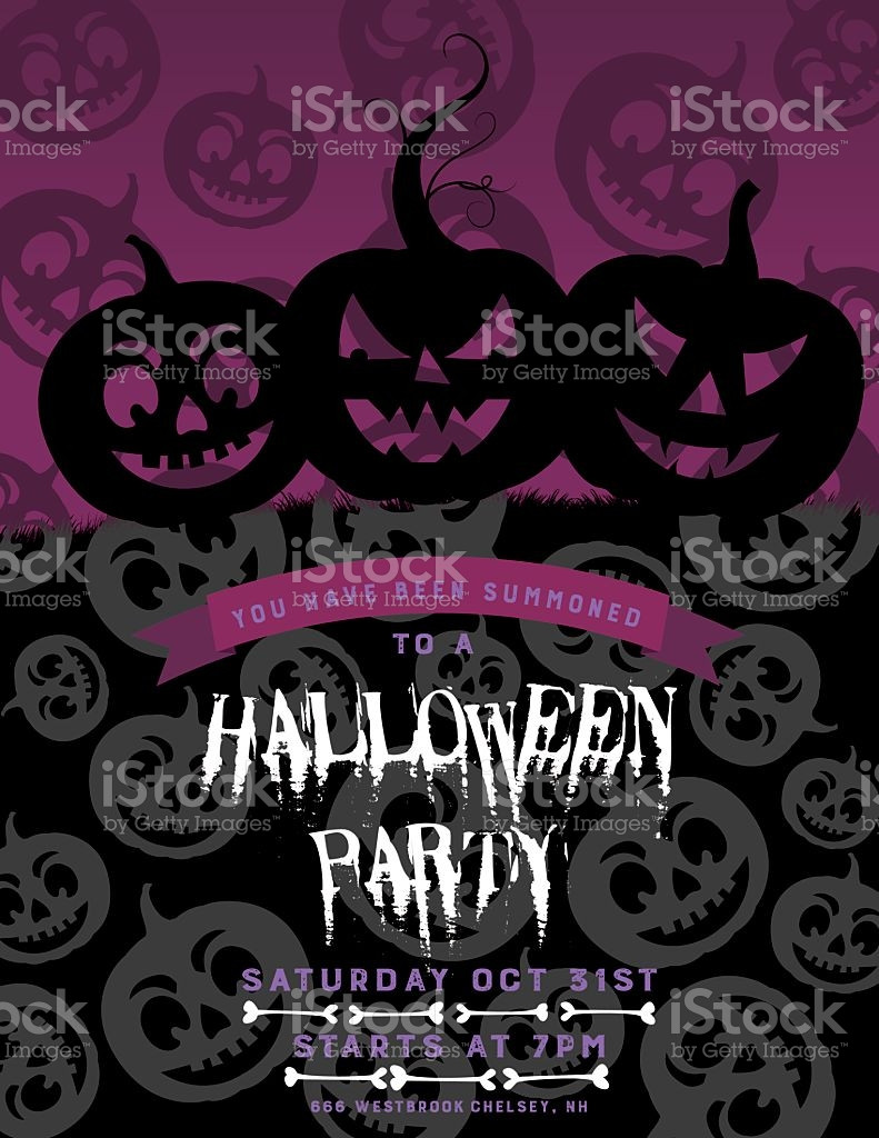Halloween Party Invitations Template