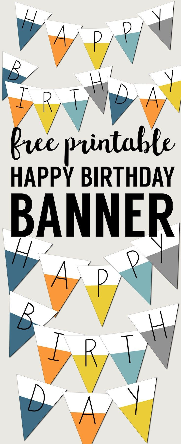 Happy Birthday Banner Template