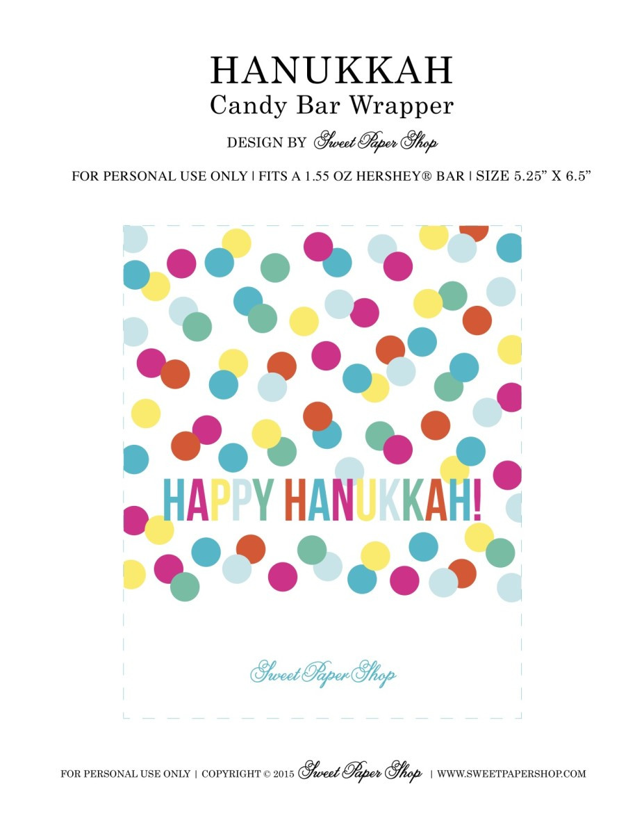 Hershey Candy Wrapper Template