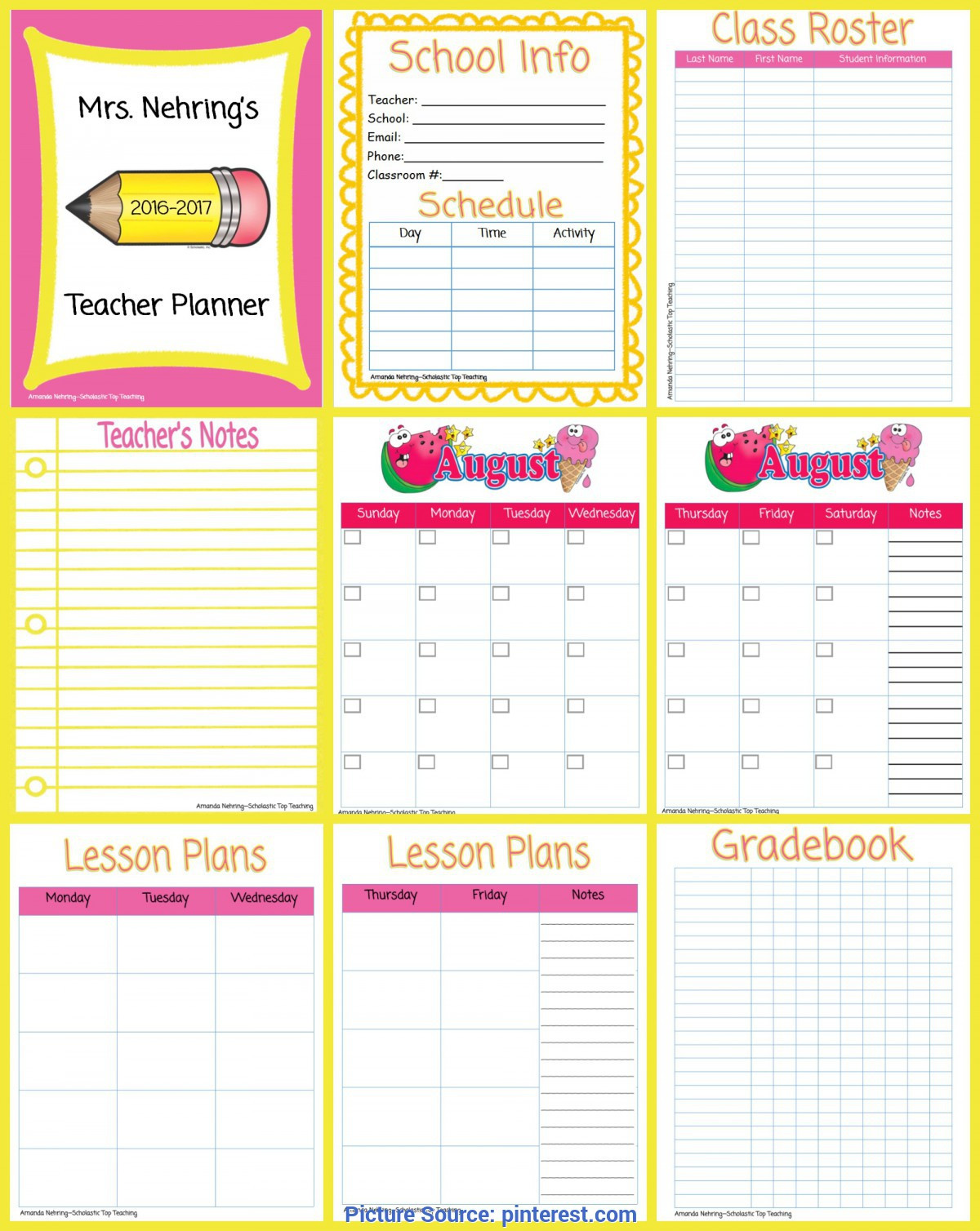 Homeschool Lesson Plan Template