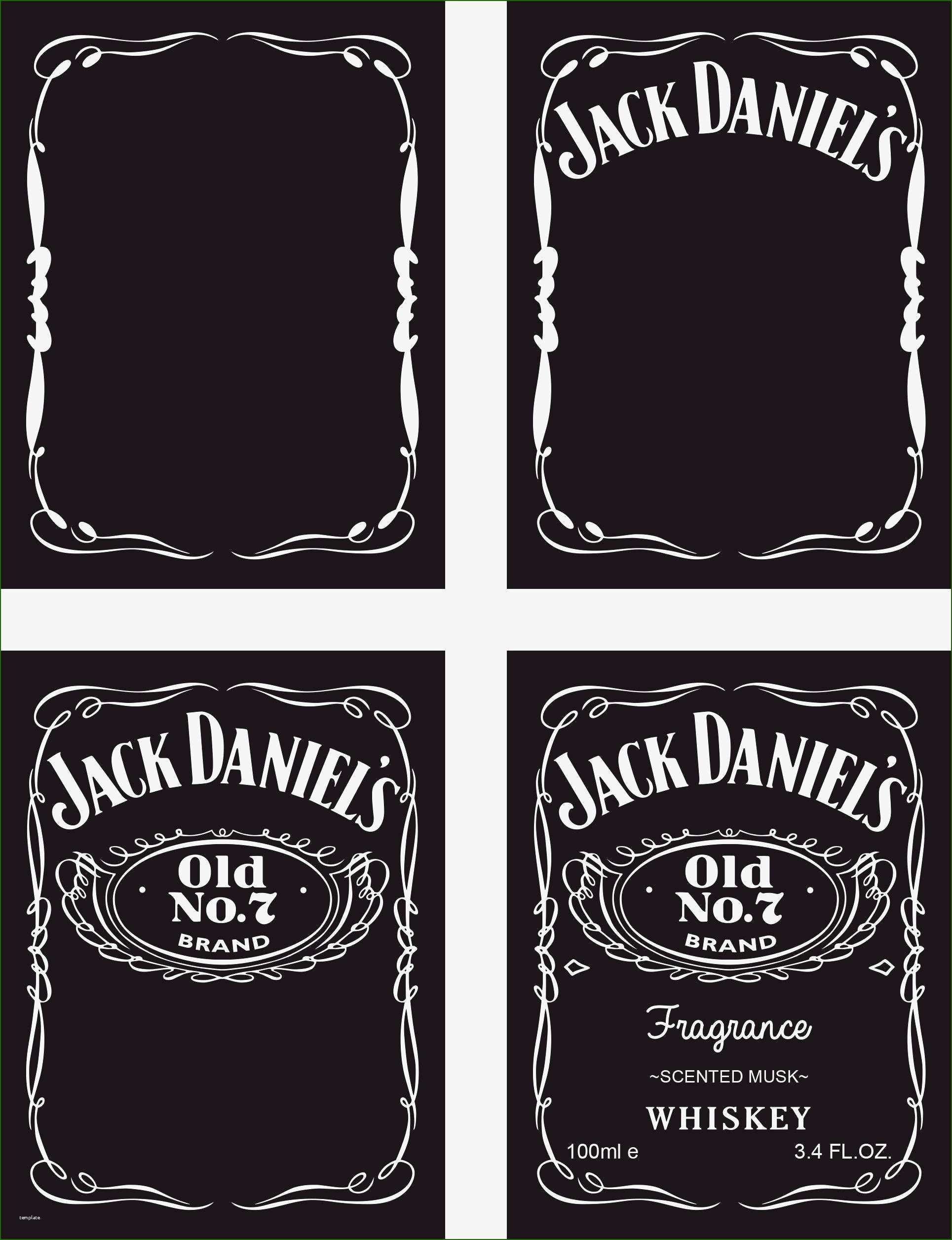 Blank Jack Daniels Label Template 17 Consultation that Don