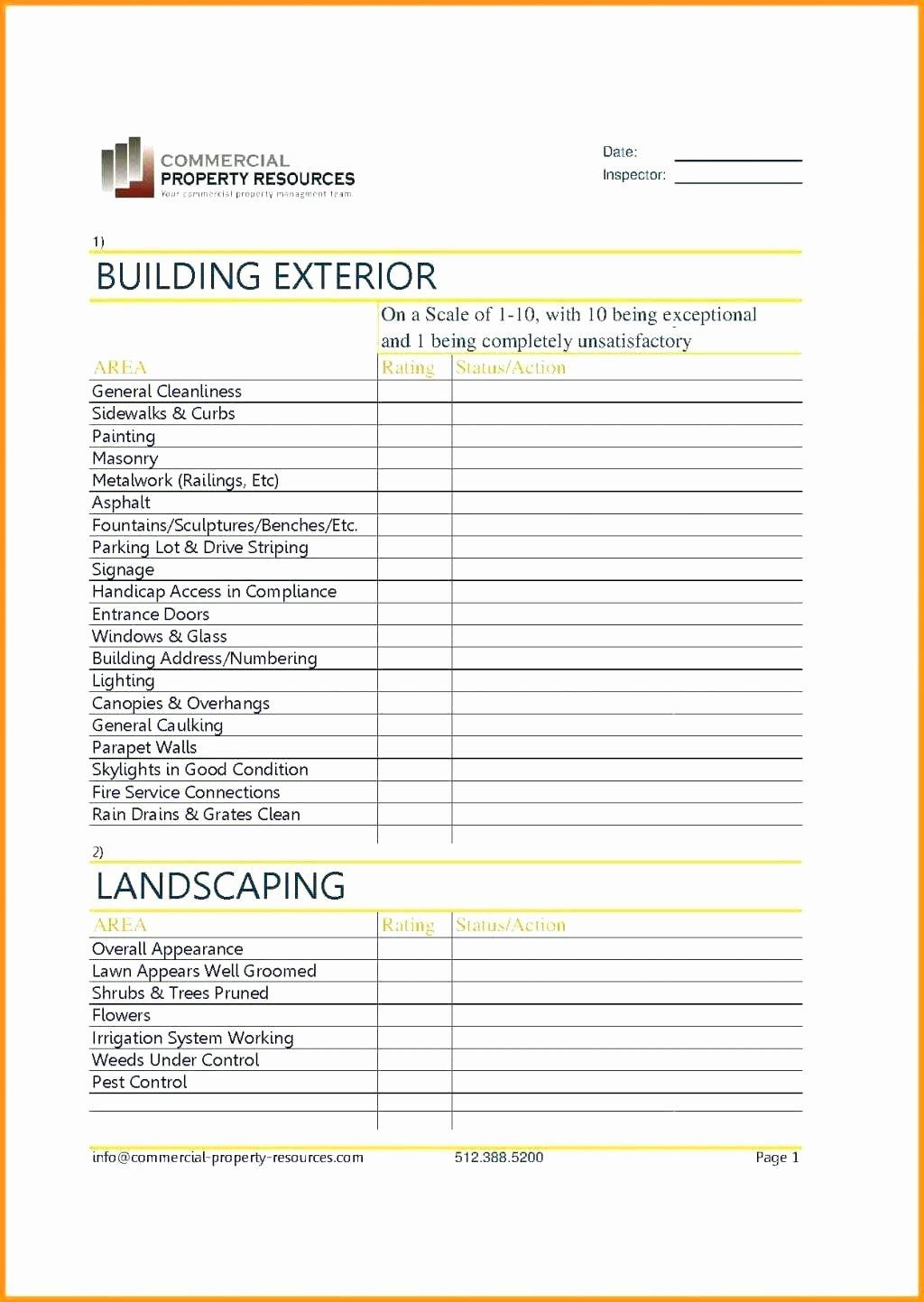 Lawn Maintenance Schedule Template