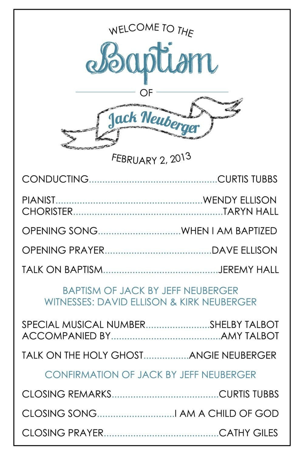 Lds Baptism Invitation Template