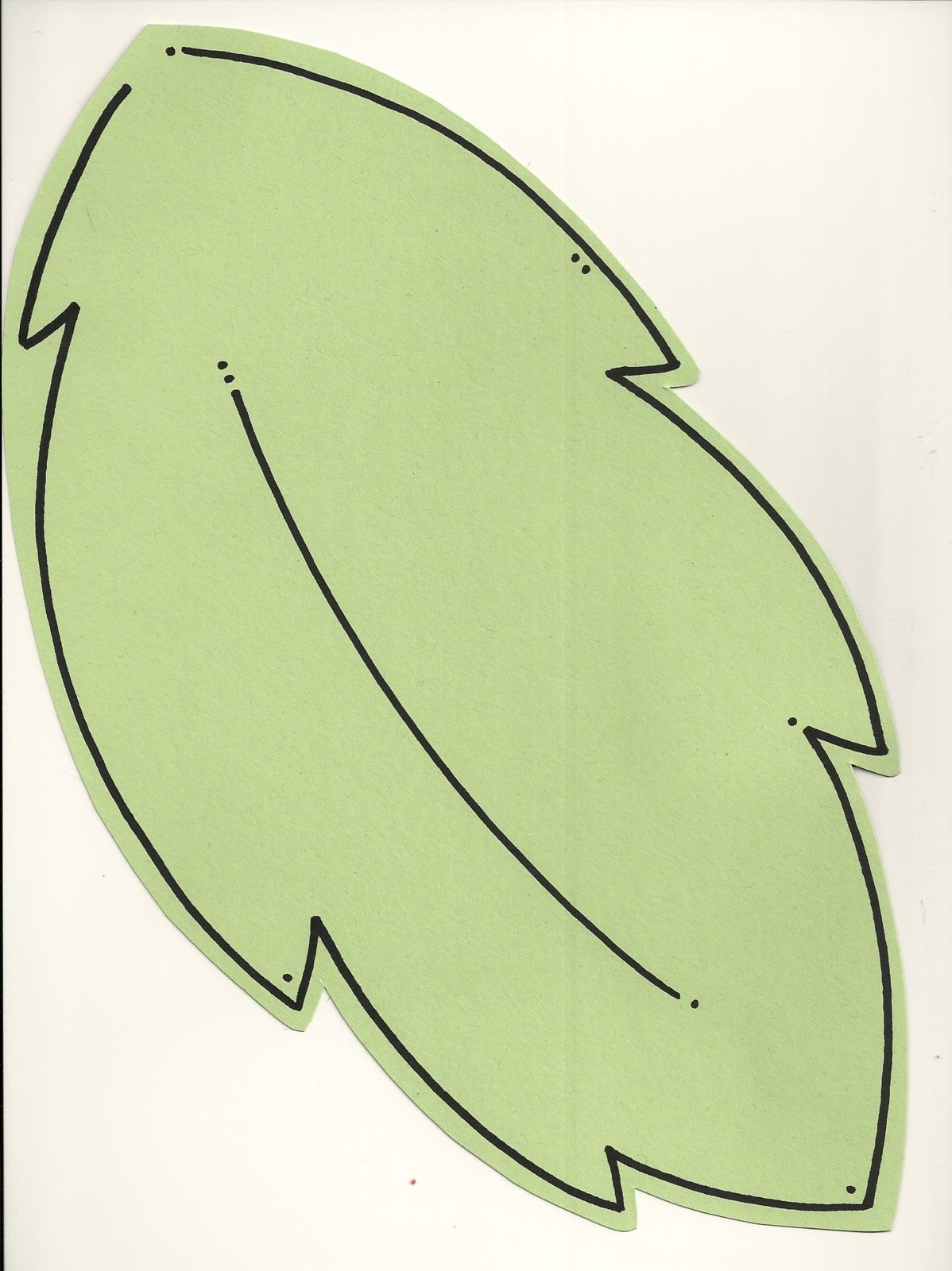 Leaf Template with Lines