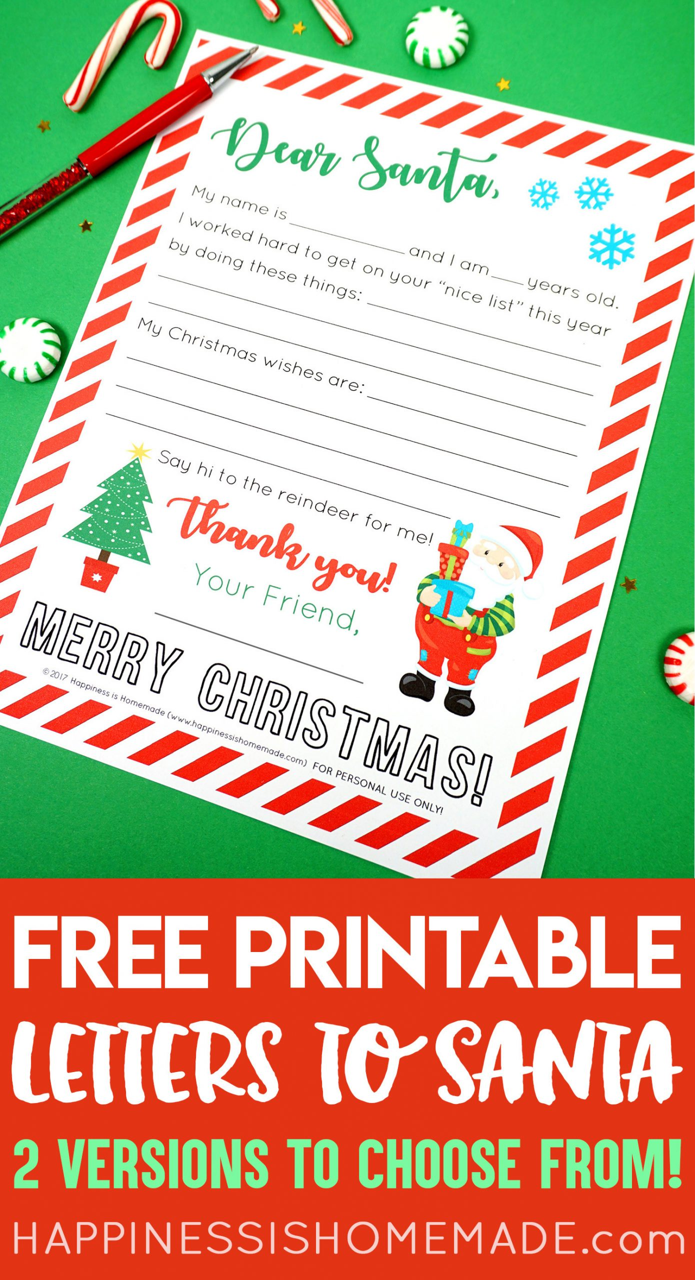Letters From Santa Template