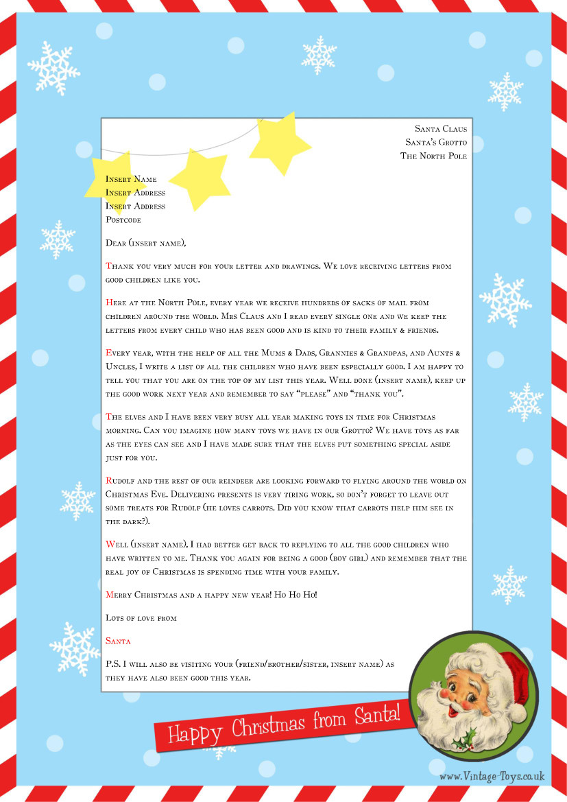 Letters to Santa Template