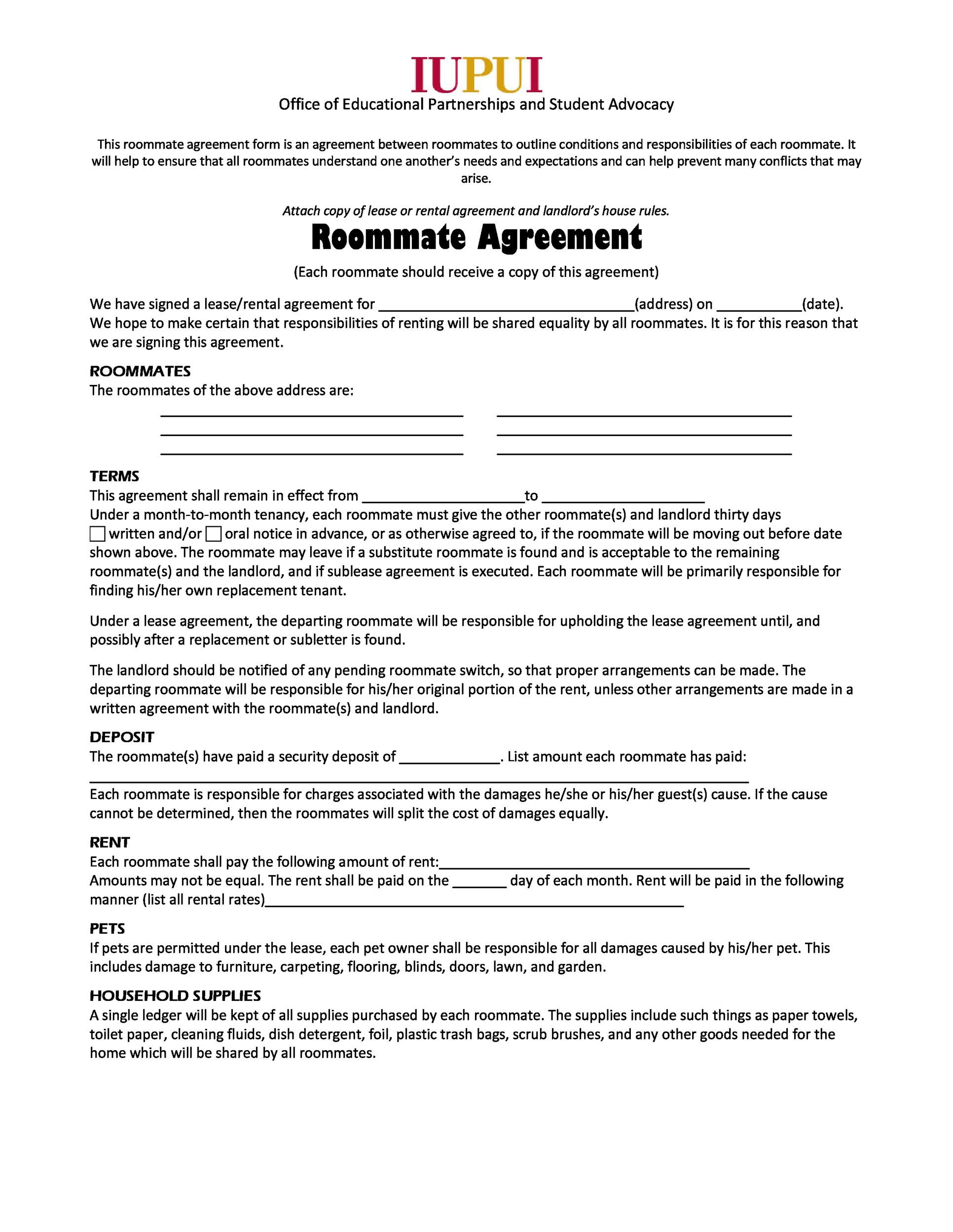 Living Agreement Contract Template