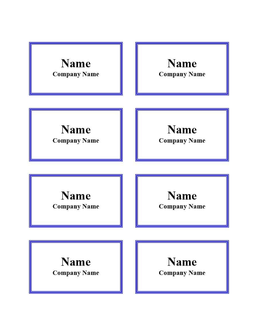 Luggage Tag Template Word
