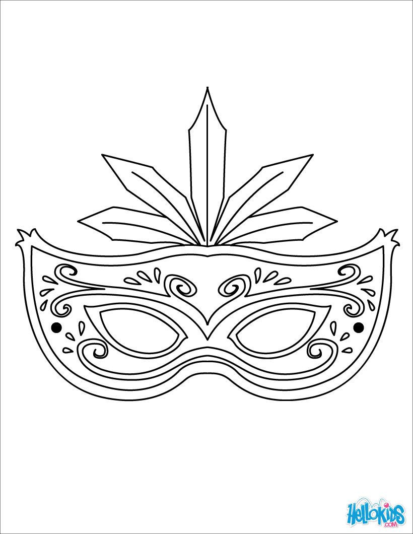 Mardi Gras Mask Template