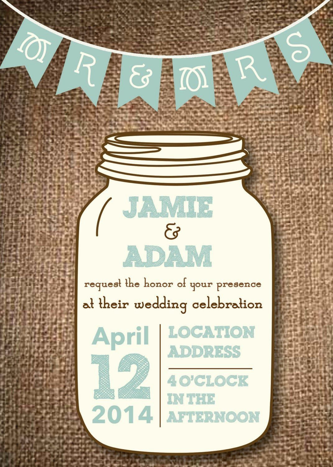 Mason Jar Invitation Template Inspirational Mason Jar