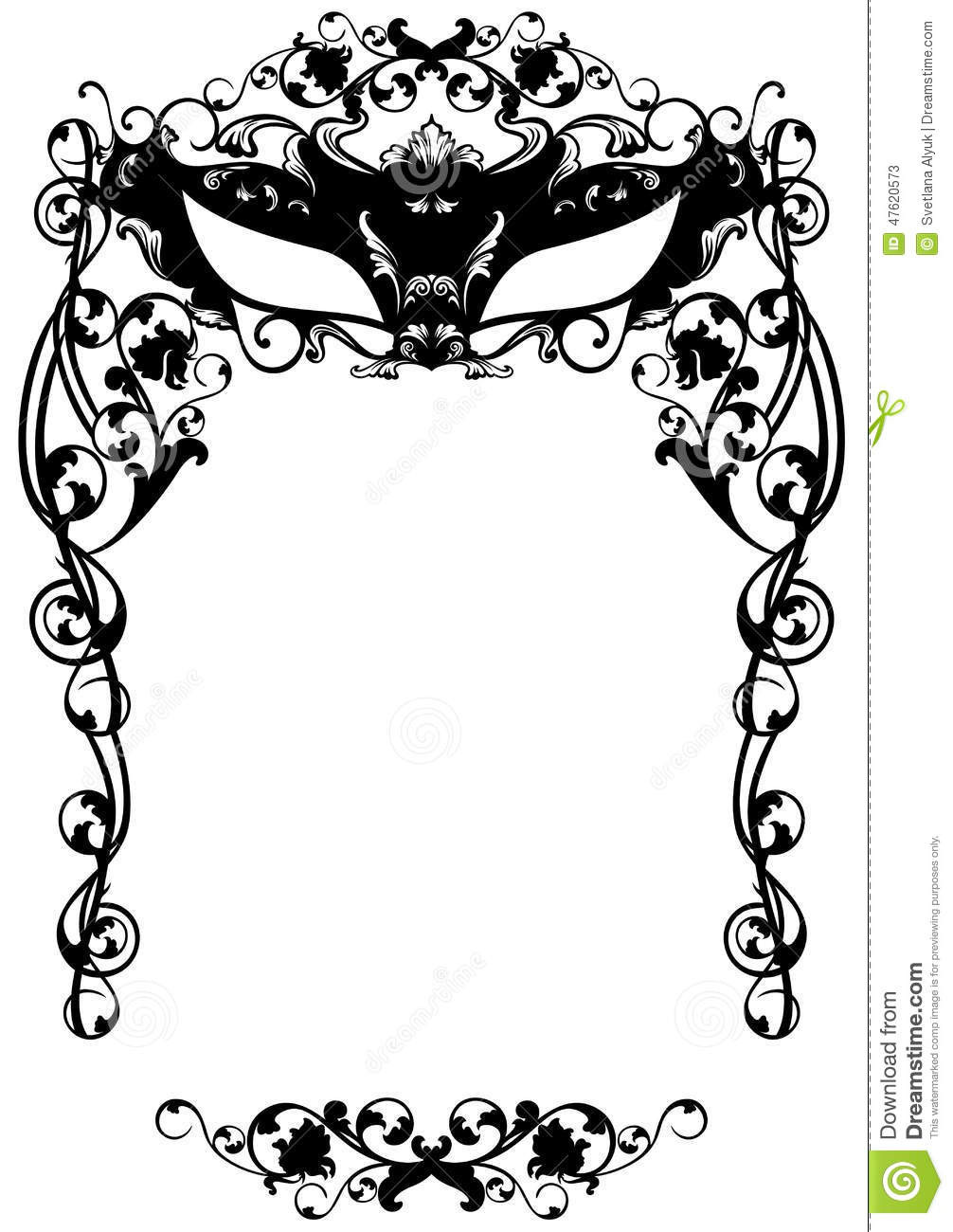 Masquerade Mask Template Printable