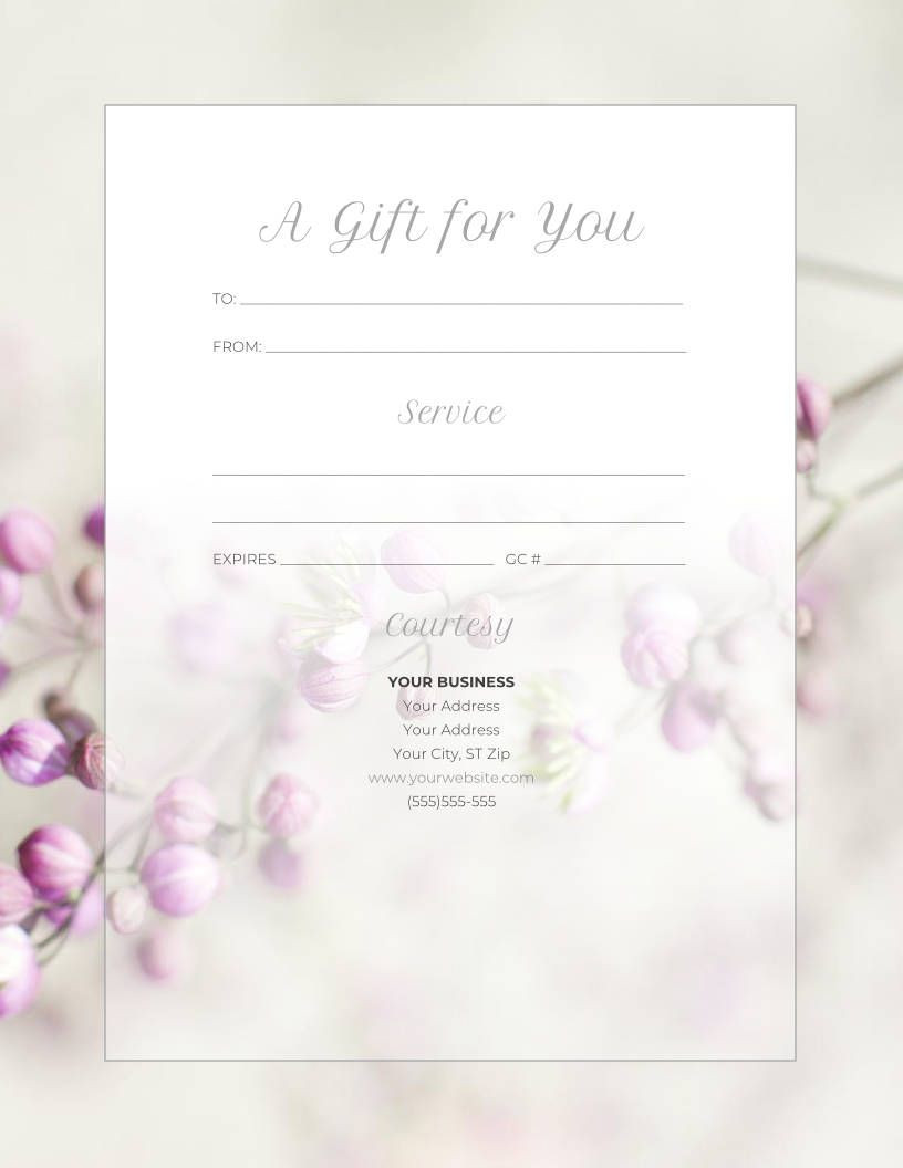 Free Gift Certificate Templates for Massage and Spa in 2020