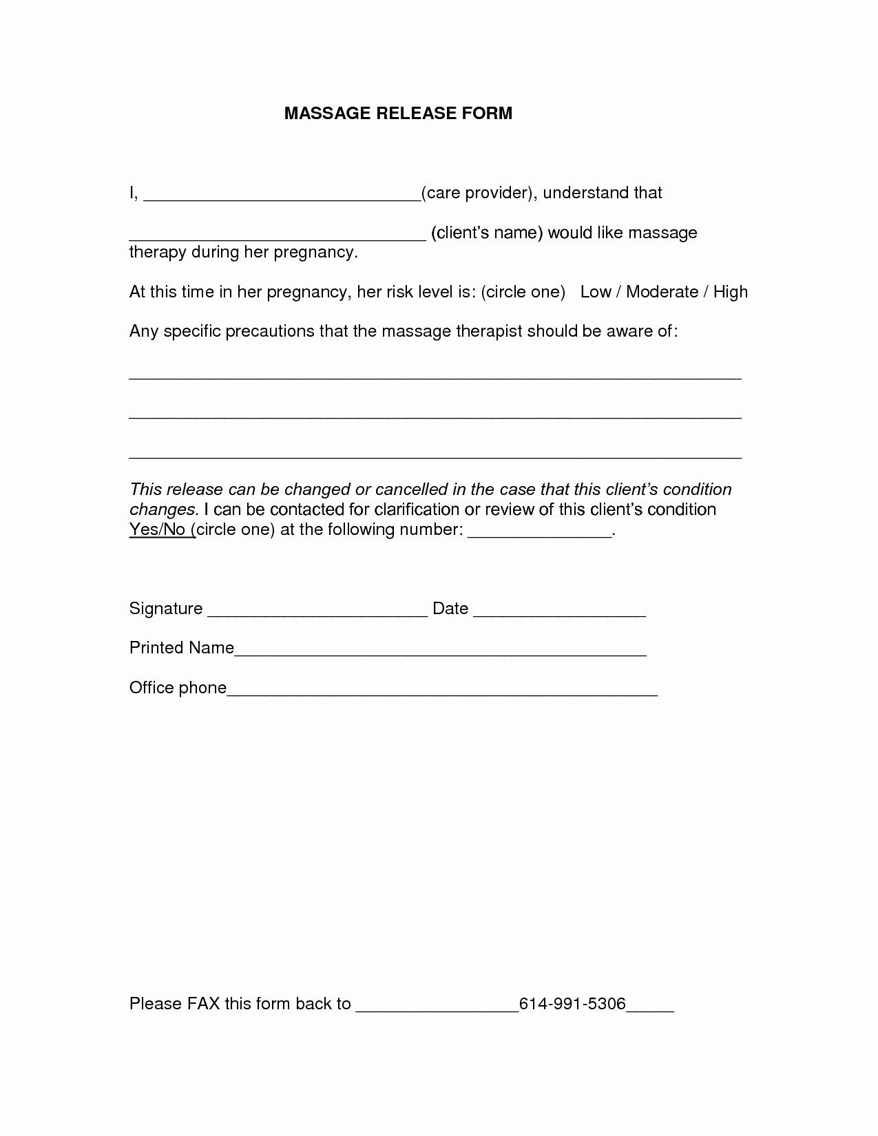 Medical Release forms Template