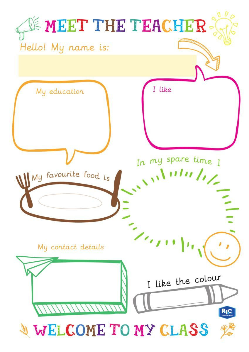 Meet the teacher templates free to for back to