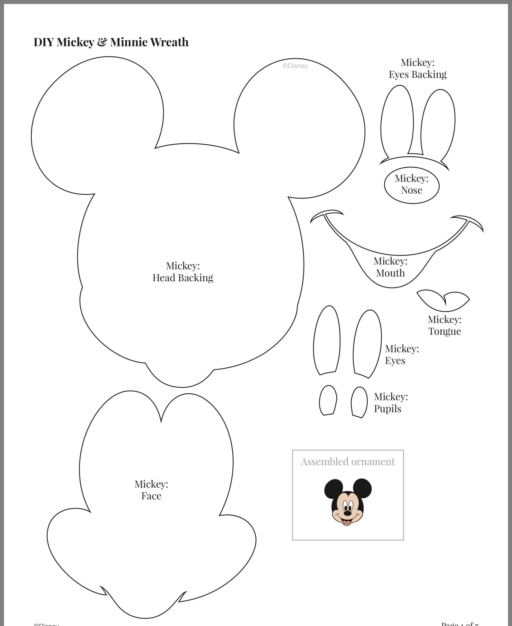 Mickey Mouse Face Template