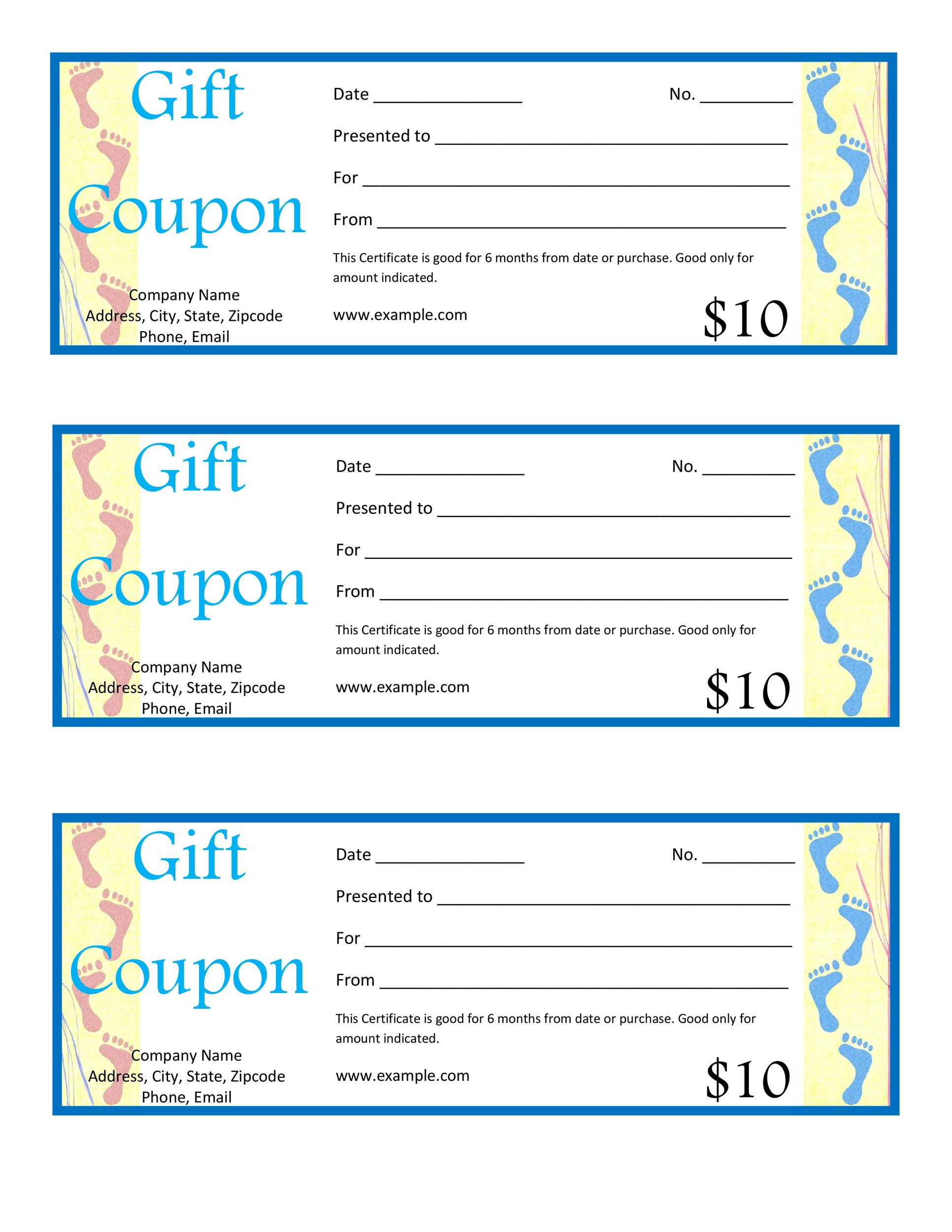 Microsoft Word Coupon Template
