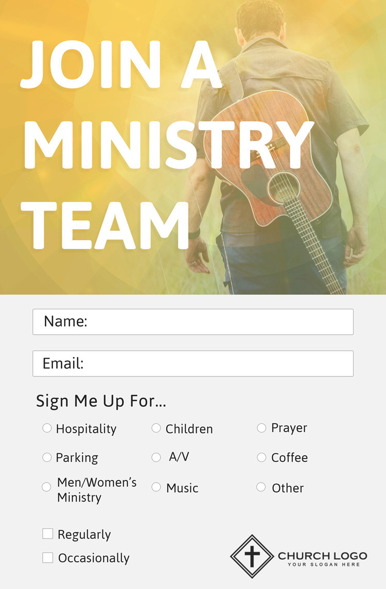 Missionary Prayer Card Template