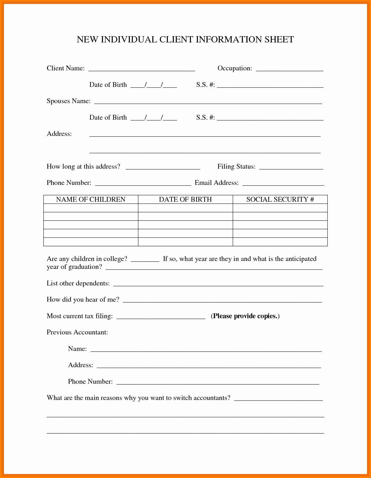 New Customer form Template