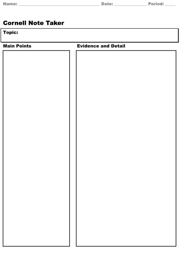 Note Taking Template Pdf