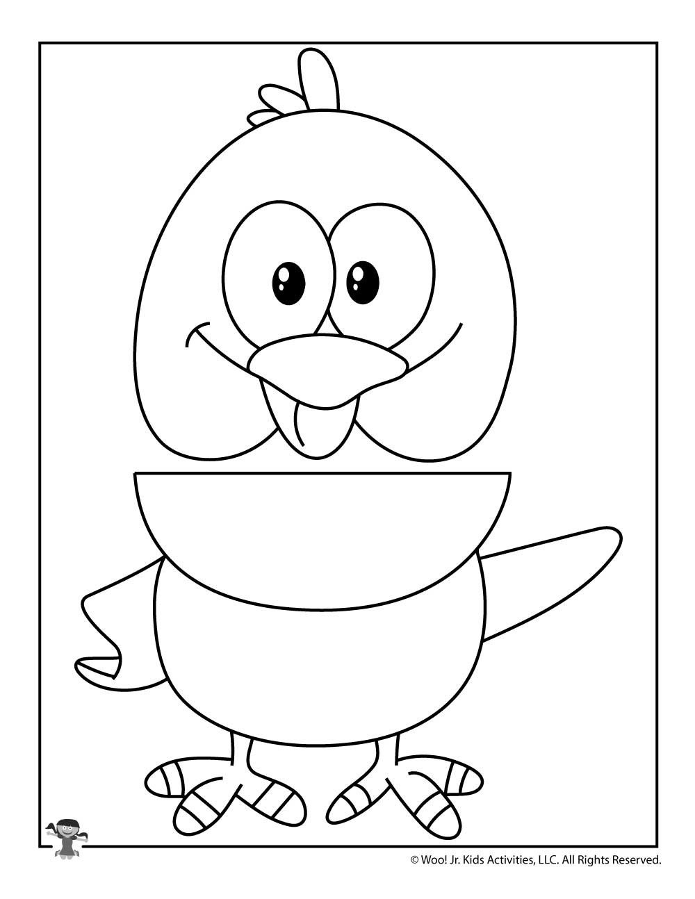 Paper Bag Puppet Template