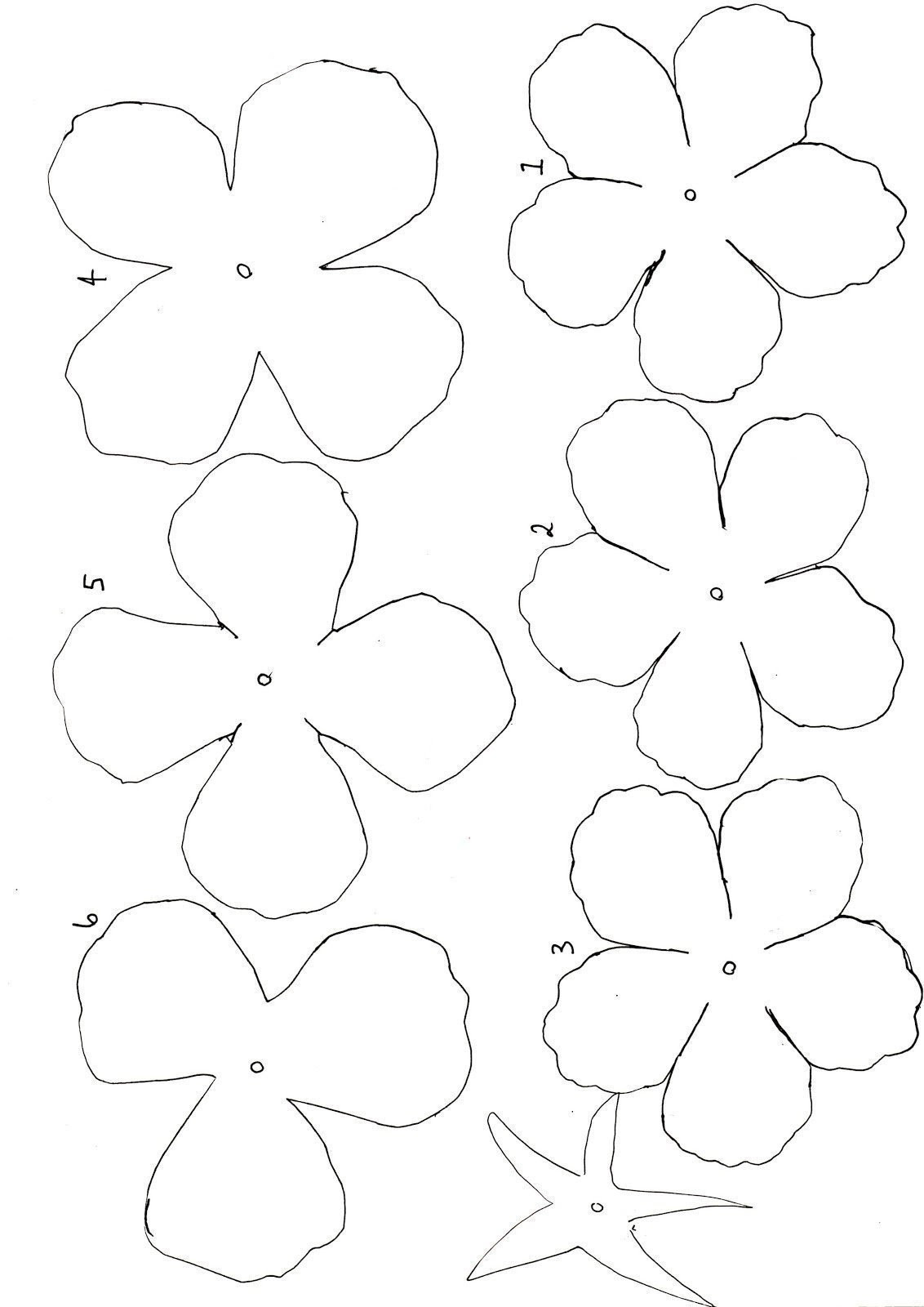 Paper Flower Template Free