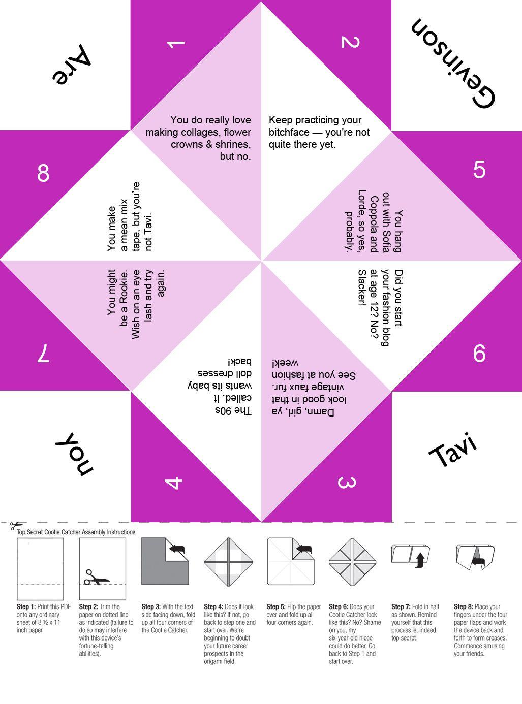 Pin on Printable Paper Fortune Tellers