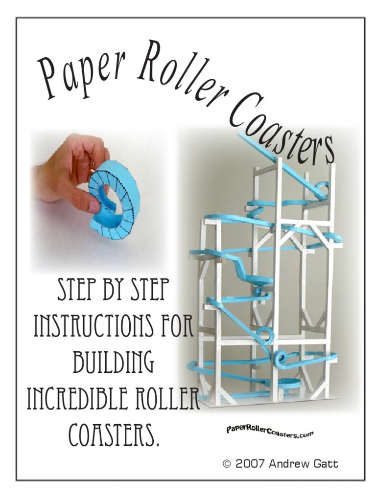 Paper Roller Coaster Template