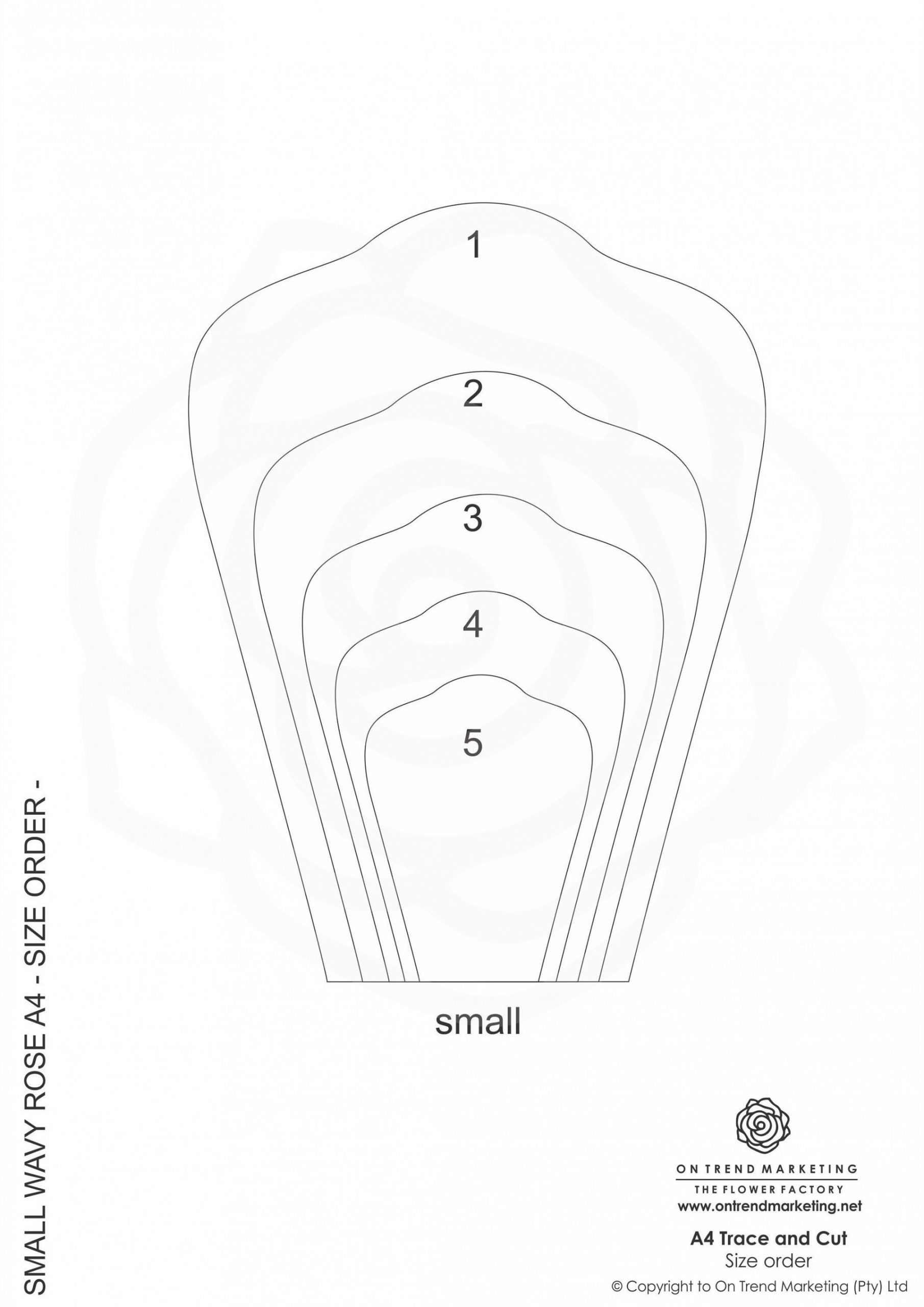 Paper Rose Template Pdf Addictionary