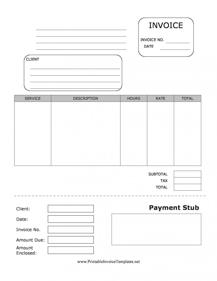 Pay Stub Template Word
