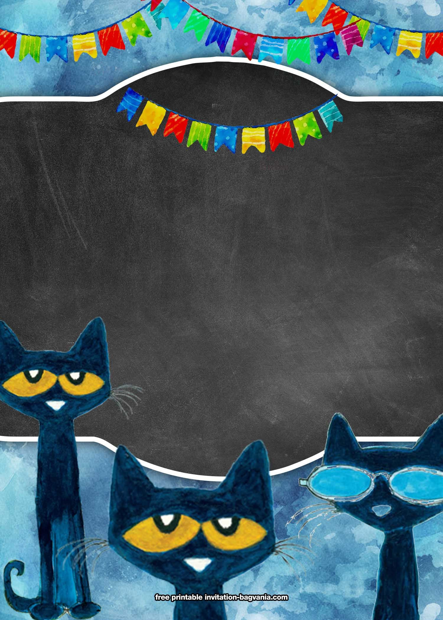Pete the Cat Template