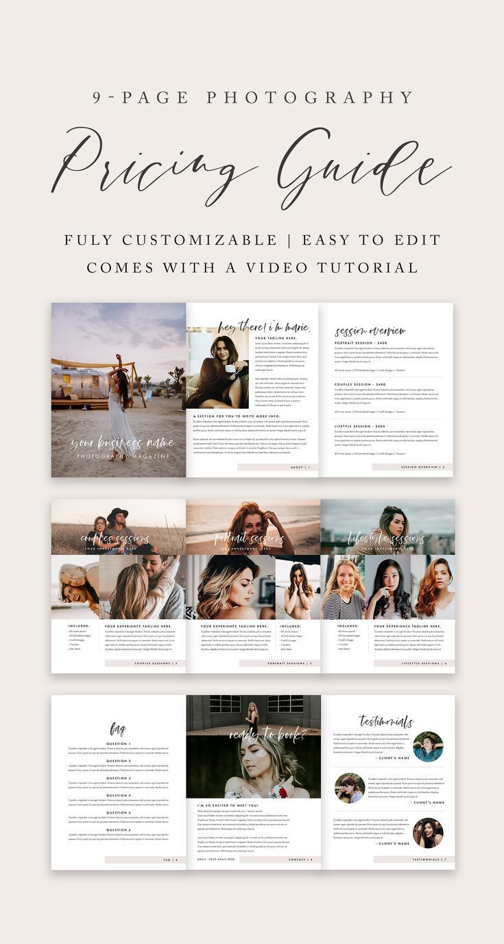 graphy Pricing Guide Template