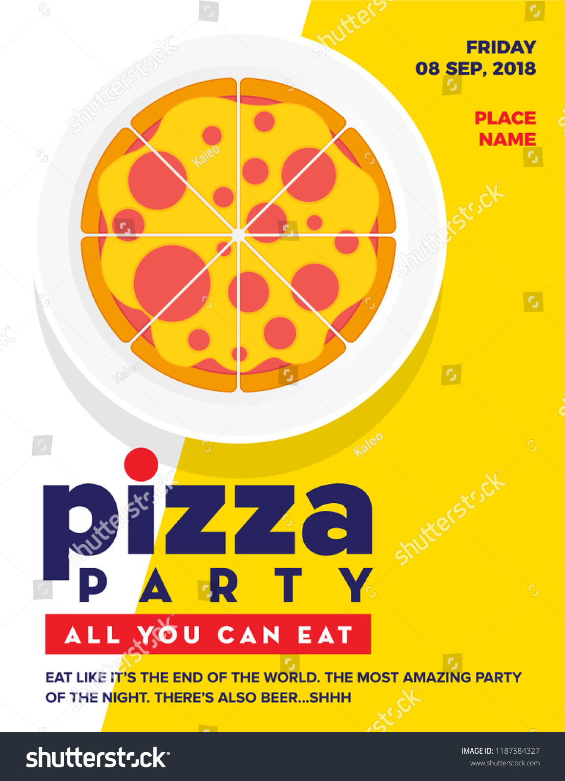 Pizza Party Invitation Template