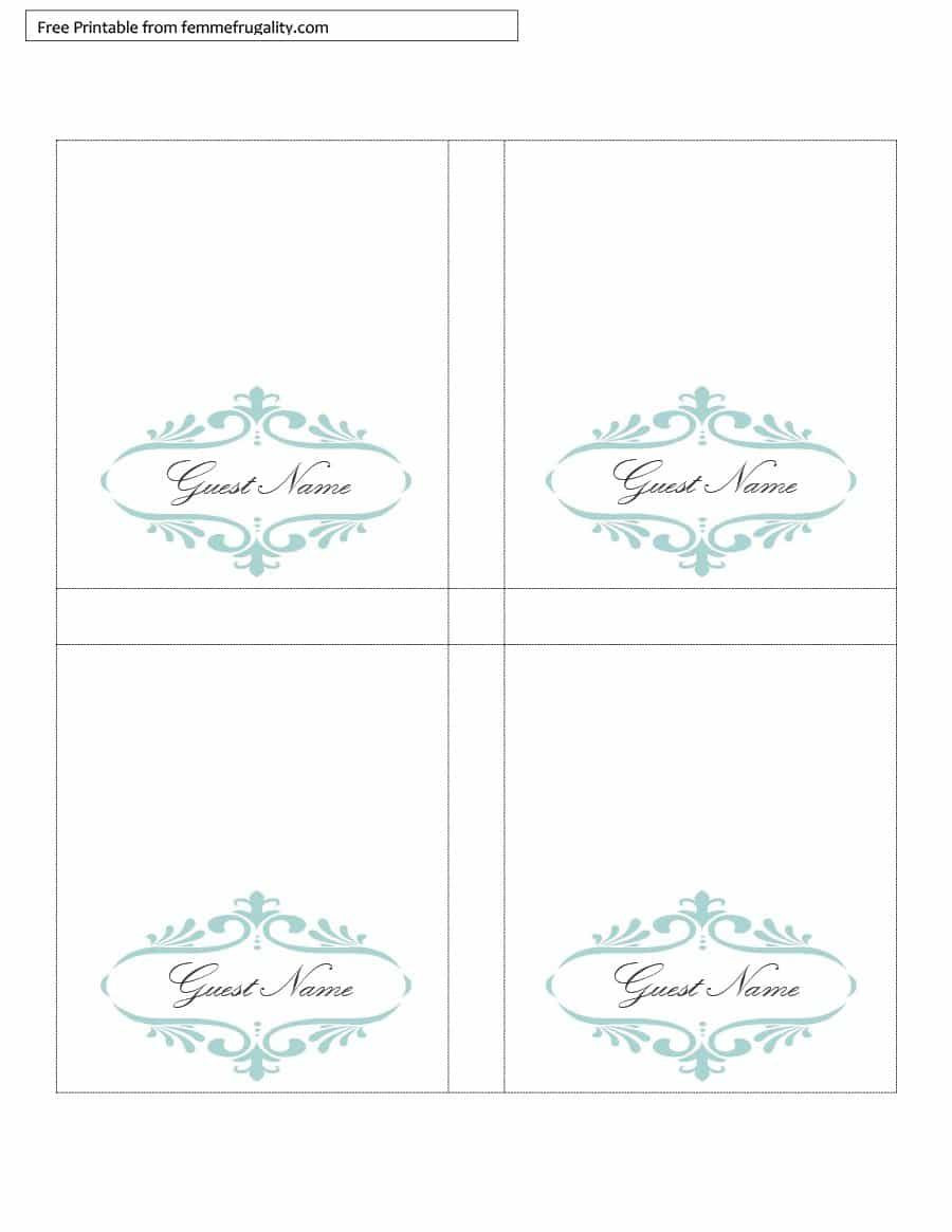 Place Card Template Free
